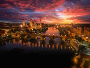 Atardecer en Zaragoza- Adrian Sediles Embi