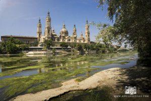 Bajo caudal del Ebro en Zaragoza - Adrian Sediles Embi
